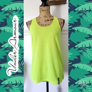 Under Armour racerback top medium neon work out